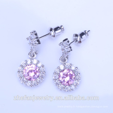Bijoux 24k saudi boucles d'oreilles 18k design bijoux