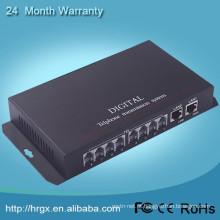Telefone comunicação conversor de voz de fibra óptica para RJ11 PCM multiplexer, telefone transmissor óptico