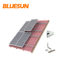 Galvanized steel Color Silver Solar panel bracket mount adjustable panel structures racking for tin pitch tiled roof