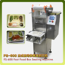 Vertical Automatic Fast Food Box/Cup Sealing Machine, Snacks Sealing Machine
