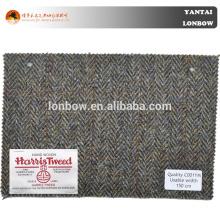 100% Wool Woolen Harris Tweed Coat Fabric