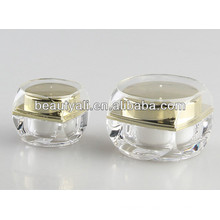 New Style Square Plastic Cosmetic Jar
