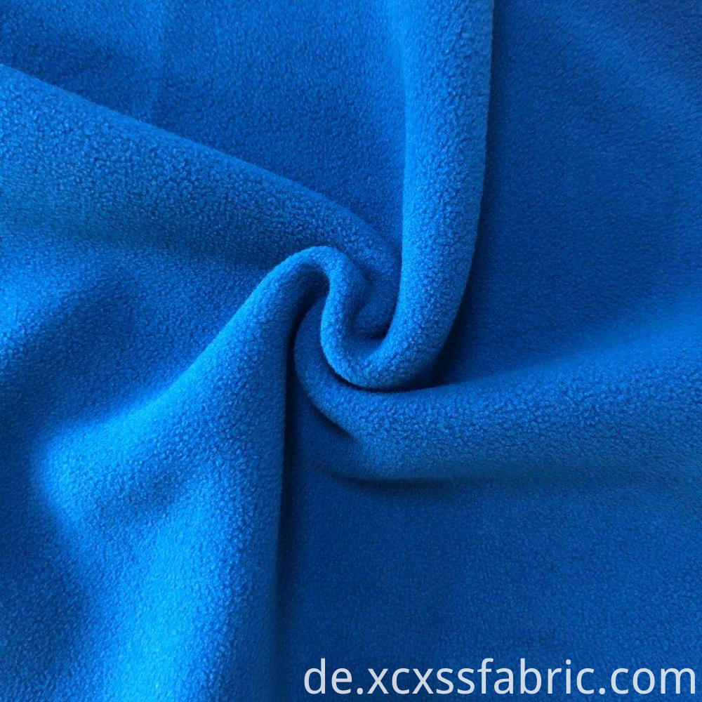 plain dyed solid bonded polar fleece fabric