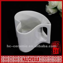 Porzellan herzförmige Teetasse, herzförmiger Becher