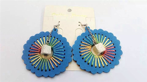 Butterfly Woven Thread Earring