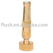 "4"" Brass Adjustable jet stream to cone spray screw-on nozzle"