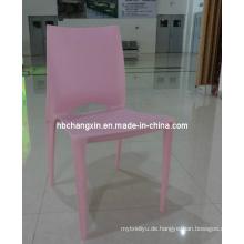 Klassischen hochwertigen weißen Kunststoff Stapelstuhl