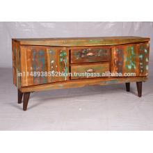 Soporte de TV de madera recuperado