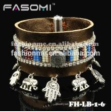 FashionMe plus récent en cuir véritable avec le bracelet magnétique de charmes
