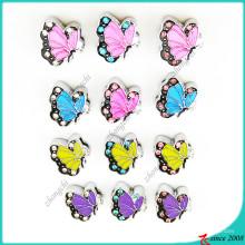 Papillon coloré avec des bijoux de charmes de diapositives strass (SC16041902)