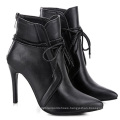 Woman Boots New Arrivals 2020 Genuine Leather Lace Up Ankle Booties Rope Zipper Up Ladies Boots Sale
