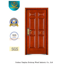 Classic Style Armoured Security Door with Carving (b-6026)
