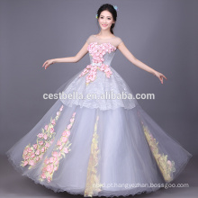Custom Made Colored Ball Gown Ruffled Quinceanera Vestidos cinza Vestidos