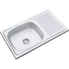 Ventas calientes del medio oriente 8545 Cuenco solo desagüe solo 85 * 45 * 14cm fregadero de la cocina del fregadero de acero inoxidable del solo cuenco 850450