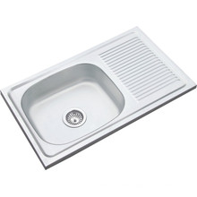 Middle East Hot Sales 8545 Single Bowl Single Drain 85*45*14cm Single Bowl Stainless Steel Sink Kitchen Sink 850450