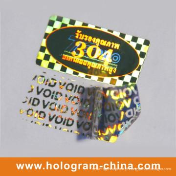 Adesivo de holograma de laser 3D inviolável