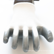 Firm Grip Anti Oil Dipping Rubber Nitrile Palm Coated Gloves for Industrial Gardening Builder