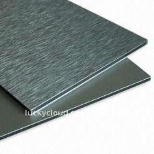 Im Freien unzerbrechliches PVDF u. PET, Bürste u. Spiegel Aluminiumplastik-zusammengesetzte Platte