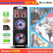 Portable Speaker with Battery Bluetooth Microphone Speaker LED Light