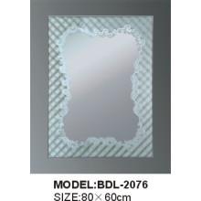 Espejo de baño de vidrio de plata de 5 mm de espesor (BDL-2076)
