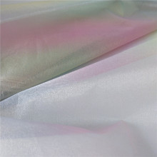 Fancy Iridescent Organza Tulle Fabric for Dress