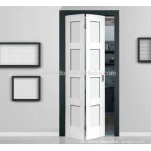 Sound Proof Sliding Folding Door With Carving white color teak pine oak closet doors