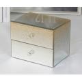 Glitter Gold Mirrored Jewelry Box