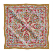 Custom Printed Paisley Design Pequeño pañuelo de seda personalizado impreso