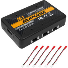 3.7V 1S LiPo Battery Charger 1 Cell Micro Compact Charger with 6 Ports