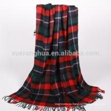 manta de lana merino de cuadros escoceses