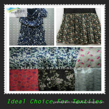 Fake Silk Printed Satin Fabric for Lady Dress
