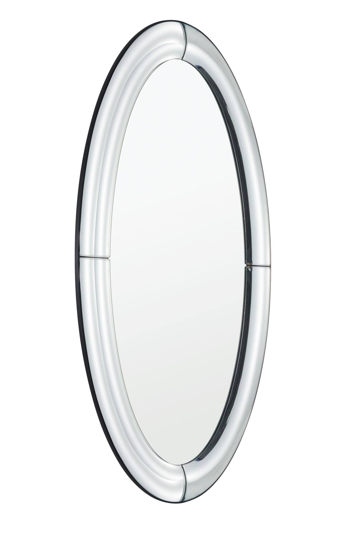 oval shape hanging mirror