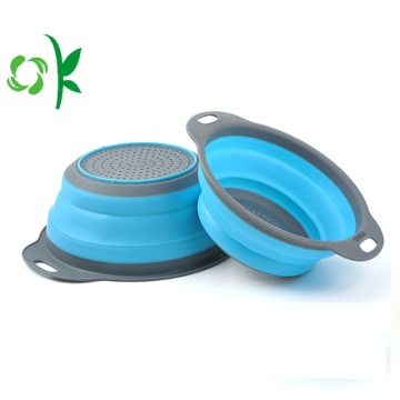 Silicone trái cây rau giỏ bếp Strainers Container