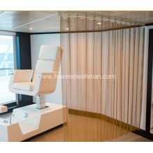 Metal Cascade coil architectural curtains