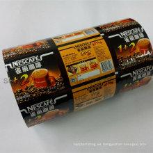 Rollo de película automática de embalaje de plástico de café