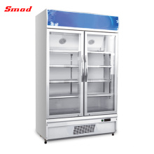 Vertical Beverage Cooler Drink Bottles Chiller Freezer Multi Glass Doors Refrigerator