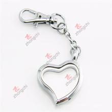 Personalizado liga de metal prata coração presentes chaveiros lockets (hsk50925)