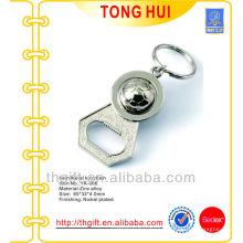 Metal bottle opener keyholder w football ornament