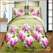 Elegant Flower Printing Colorful Wholesale 3d Bedding Sets polyester bedding set