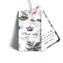 Wholesale Custom Paper Hangtag Custom Clothing Tag with Rope
