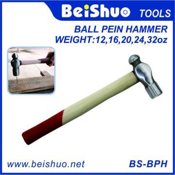12 ~ 32 унций Деревянная ручка из углеродистой стали Ball Pein Hammer