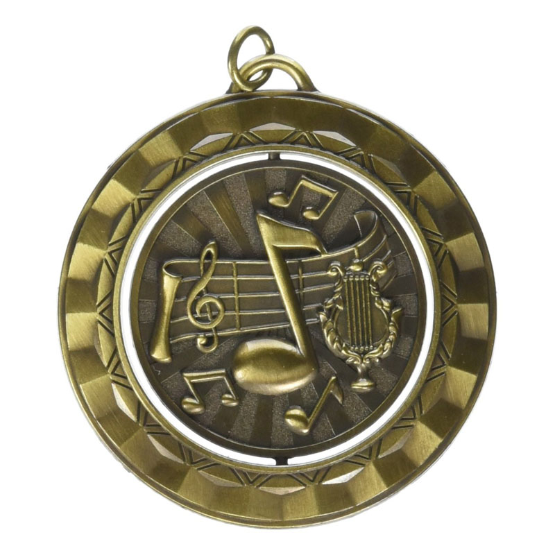 Music Die Struck Spinner Medal