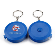 Mètre à ruban bleu rétractable porte-clés