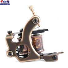 Solong M202-1 New Wholesale Brass 8 wraps Coil Tattoo Machine For Liner China Profesional Charming Tattoo Coils Machine