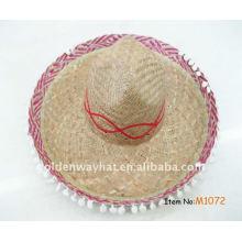 Chapéus de palha mexicanos baratos promocionais