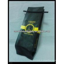 Saco da folha do laço da lata / claro, laminado, Polypropelyne, saco de café do selo do calor