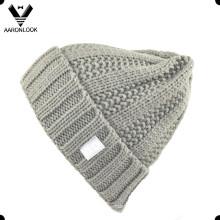 De moda de invierno 100 acrílico invierno Knit Cuff Hat