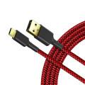 Cargador de carga rápida trenzado de nailon Cable USB