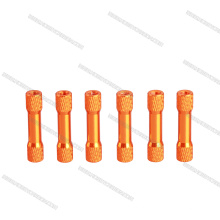 Espaçadores de alumínio serrilhados redondos de alumínio de M3 ou espaçadores redondos