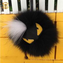 Горячая продажа меховой кожи из меховой кожи из меховой кожи Fox Fom Monster Pom Monster Ball